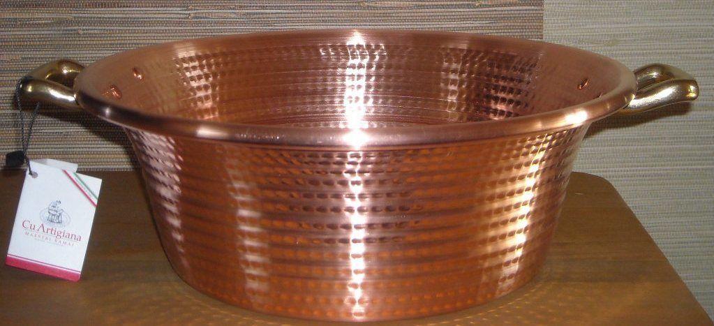 Медная посуда для варки варенья